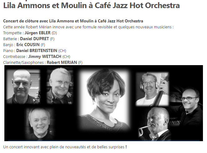Lila Ammons and Moulin à Café Jazz Hot Orchestra